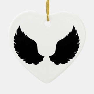 Wings Ceramic Heart Decoration