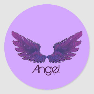 Wings Classic Round Sticker