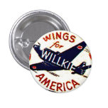 Wings for Willkie - Button