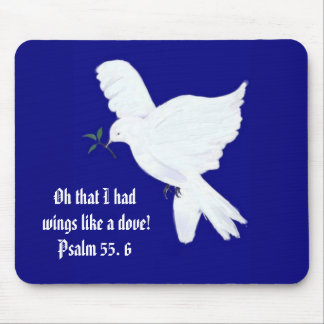 Wings like a Dove-Bible Quote Mouse Mat