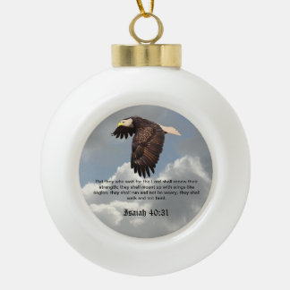 WINGS LIKE EAGLES CERAMIC BALL DECORATION