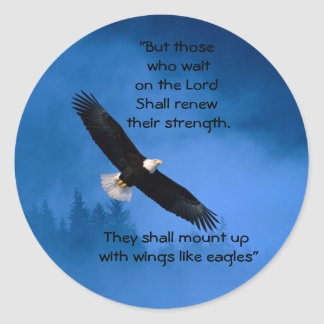 Wings Like Eagles Stickers