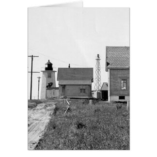 Wings Neck Lighthouse Greeting Card