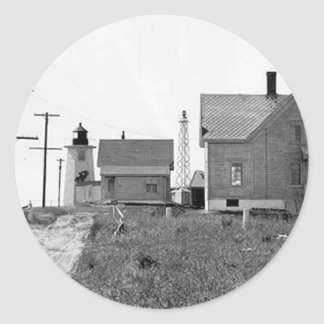 Wings Neck Lighthouse Round Sticker