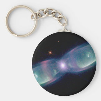 Wings of a butterfly nebula basic round button key ring