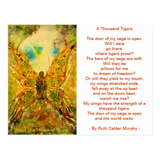 Wings of a Thousand Tigers Postcard
