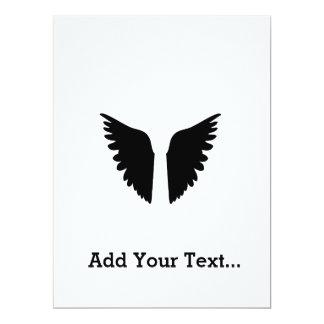 Wings of angel 17 cm x 22 cm invitation card