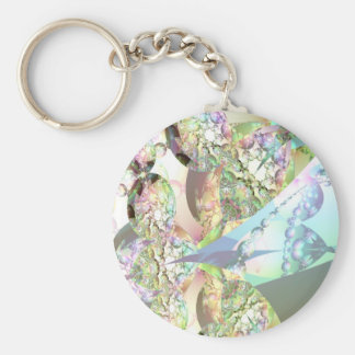 Wings of Angels – Celestite & Amethyst Crystals Basic Round Button Key Ring
