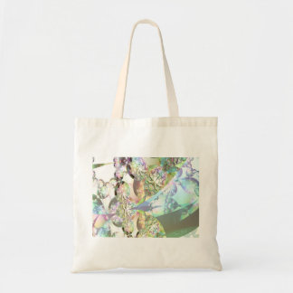 Wings of Angels – Celestite & Amethyst Crystals Budget Tote Bag