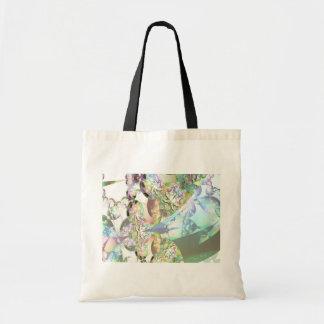 Wings of Angels – Celestite & Amethyst Crystals Budget Tote Bag