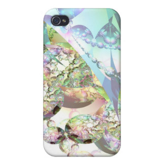 Wings of Angels – Celestite & Amethyst Crystals Cases For iPhone 4
