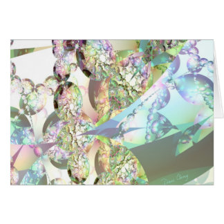 Wings of Angels – Celestite & Amethyst Crystals Greeting Card