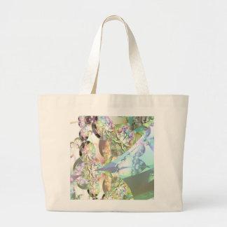 Wings of Angels – Celestite & Amethyst Crystals Tote Bags