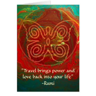 Wings of Love-Rumi and Poetic Art Card