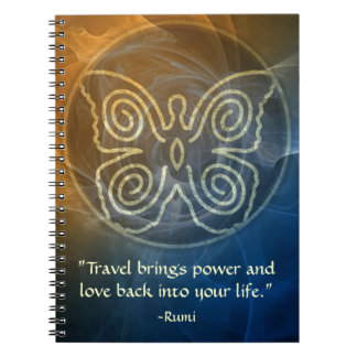 Wings of Love-Rumi and Poetic Art Notebooks