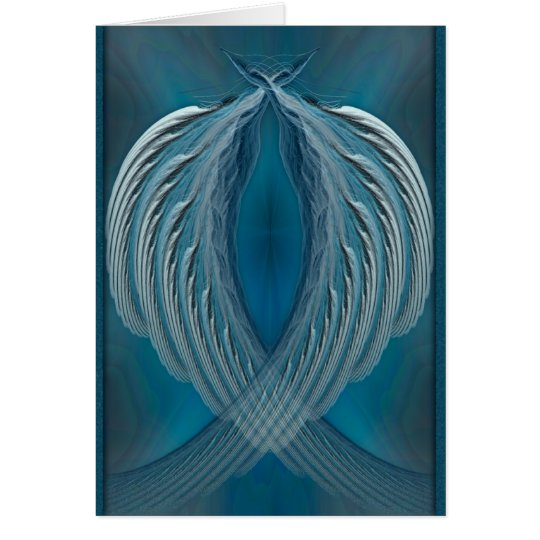 Wings of Peace Abstract Art Card