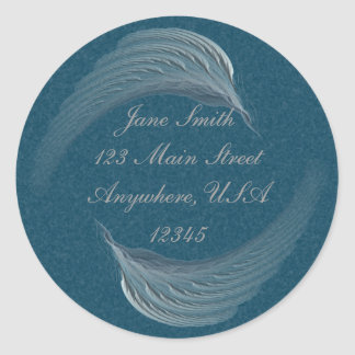 Wings of Peace Abstract Art Classic Round Sticker
