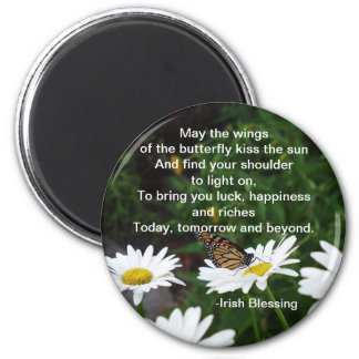 Wings of the Butterfly-Irish Blessing magnet