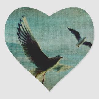 Wings over the World Heart Sticker