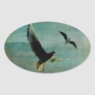 Wings over the World Oval Sticker