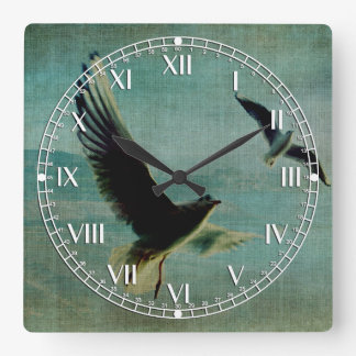Wings over the World Square Wall Clock