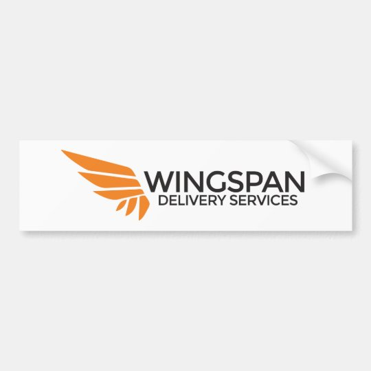 WINGSPAN Delivery Services bumper sticker (white)