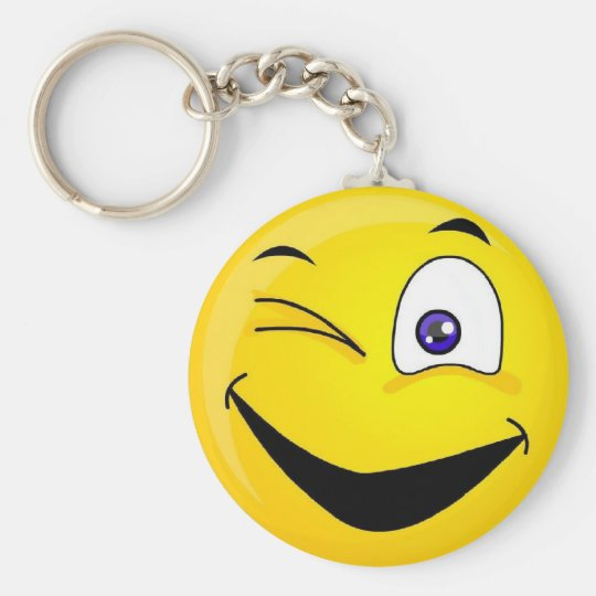 Wink Basic Round Button Key Ring