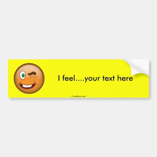 Wink Bumper Sticker