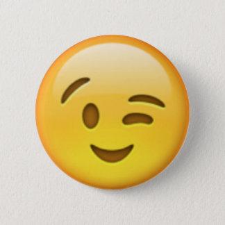 Wink Emoji Pin