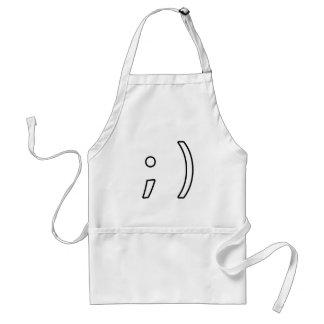Wink face apron