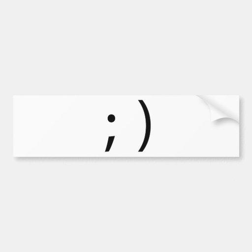 wink face! bumper stickers