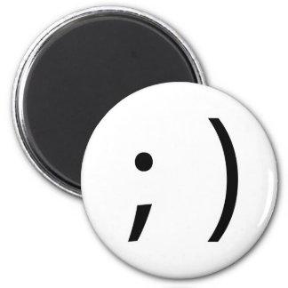 wink face! magnet