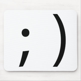 wink face! mouse mat