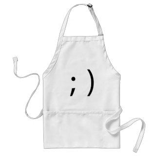 wink face! standard apron