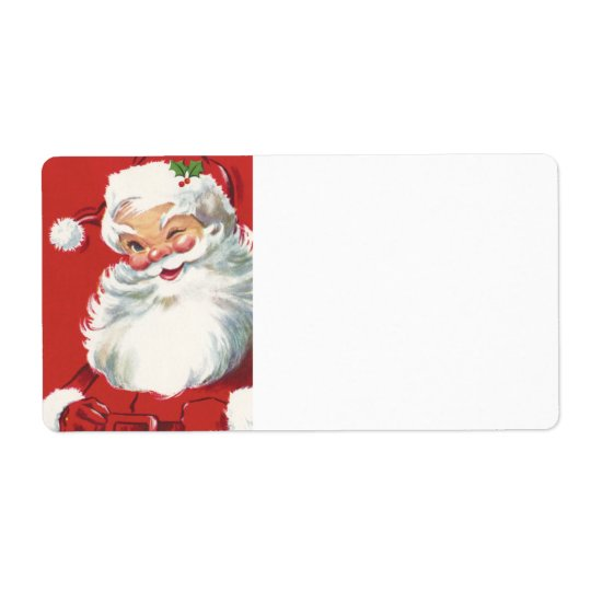 Wink From Santa Shipping Label