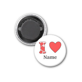 Wink i love costomized 3 cm round magnet