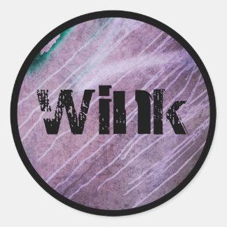 winked grungy sticker