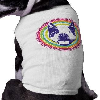 Winking Boston Terrier Sleeveless Dog Shirt