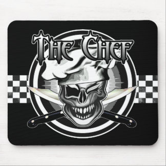 Winking Chef Skull Mouse Pad
