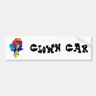 Winking Clown with Marble Bumper Sticker