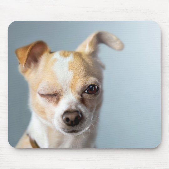 Winking Dog Mousepad