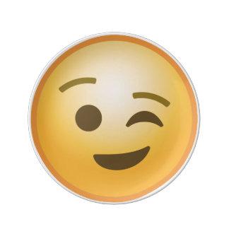 Winking Emoji Porcelain Plate