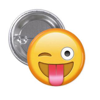 Winking emoji smiley badge