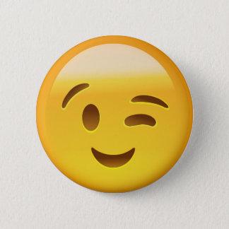 Winking Face Emoij 6 Cm Round Badge