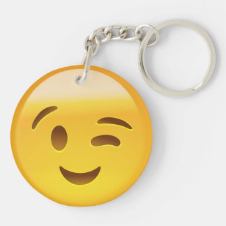 Winking Face Emoij Acrylic Key Chains