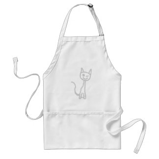 Winking Gray Cat. Aprons