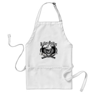 Winking Grill Chef Skull: Killer Griller Apron