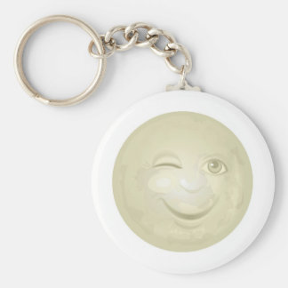 Winking Honeymoon Face Key Ring