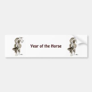 Winking Horse Good Luck! Car Bumper Sticker