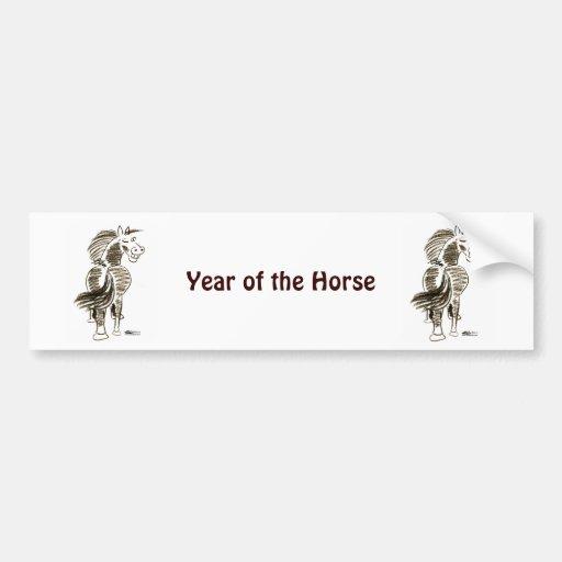 Winking Horse Good Luck! Bumper Sticker
